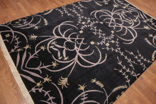 Tibetan Hand-Knotted Wool Transitional  Botanical  (6'x9')