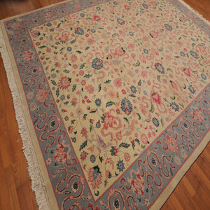 "Oriental Area Rug Hand-Knotted 100% Wool  Traditional Persian Romanian Kashan (8'10""x11'8"")"