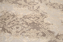 8' x 10'  Hand knotted S.fine wool & silk Area rug Modern Designer Chocolate Brown