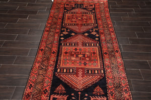 Runner Hand Knotted Persian 100% Wool Traditional Oriental Area Rug Charcoal, Camel Color