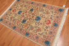 Oriental Area Rug Hand-Knotted 100% Wool  Traditional Persian Romanian Kashan Pictorial (4'x6')