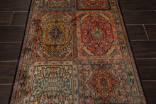 "Persian Oriental Area Rug Hand Knotted 100% Silk Traditional Dabba Box  400 KPSI  (2'7""x4'2"")"