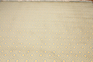 Full Pile Oriental Hand Knotted   Wool Modern Honeycomb design Geometric pattern (9'x12')