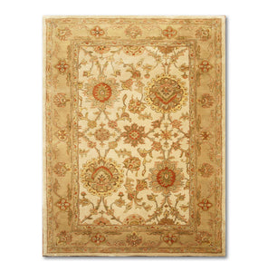 "5'6""x8'6""   Brown  Beige, Rust, Tan, Multi Color Hand Made, Hand Washed Hand Tufted Wool Traditional Oriental Rug"
