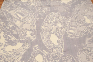 Oriental Machine-Made Wool Modern Marble Design (6'x9')