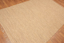 "Oriental Hand-Woven Leather Contemporary Flatpile Rug Tone on Tone (5'6""x8'6"")"