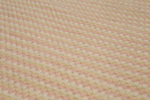 4'x6' Pale Yellow Pale Pink Color Hand-Woven Dhurry Kilim Reversible Wool Modern Oriental Rug