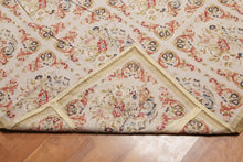 Asmara Needlepoint Aubusson Hand-Woven Wool Traditional French Design (9'x12')