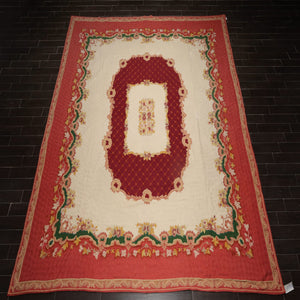 "French Aubusson   Area Rug Hand Woven Wool Traditional Chainstitch  (11'10""x13'5"")"
