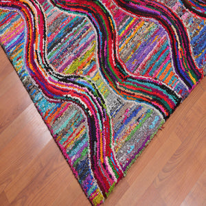 5'x8' Multi Color hand tufted boho rugs.