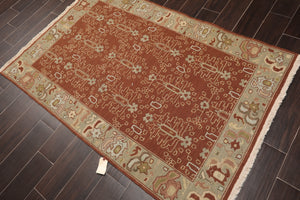 "Oriental Area Rug Hand Knotted 100% Wool Traditional Reversible Nourison Nourmak Panel  (3'10""x5'10"")"