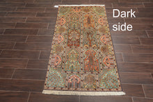 "Persian Oriental Area Rug Hand Knotted 100% Silk Traditional Hamadan 400 KPSI  (3'1""x5'4"")"