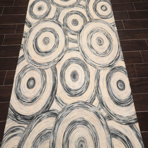 "Persian Oriental Area Rug Hand Tufted Wool Modern & Contemporary  (5'x7'6"")"