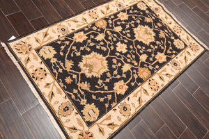"Oriental Area Rug Hand Knotted 100% Wool Traditional Nourison Nourmak High Low Pile (3'10""x5'10"")"