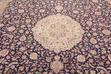 "Persian Oriental Area Rug Hand Knotted 100% Silk Traditional Kashan Medallion 400 KPSI  (9'2""x12"")"