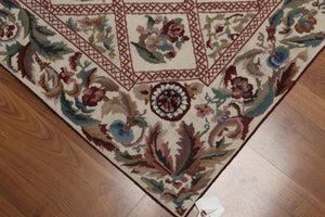 Needlepoint Aubusson Hand-Woven Wool Traditional  (4'x6')