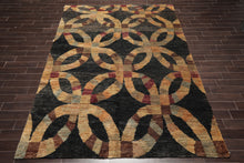 Oriental Area Rug Hand Knotted Jute Modern  Thick Pile  (9'x12')