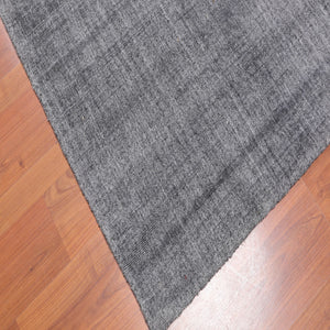 "4'1""x8'2 Hand Loomed Wool   Oriental Area Rug Tone on Tone Grey,  Color"