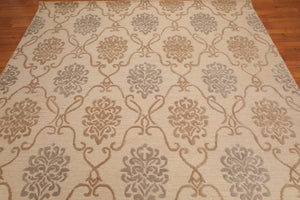 Loop Cut pile Area Rug Hand-Tufted 100% Wool  Traditional Persian Damask (8'x10')