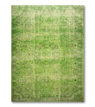 "7'2""x10'5""   Green  Light Green Color Hand Knotted Oriental Rug Wool Traditional Oriental Rug"