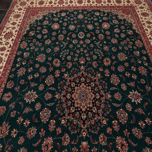 Persian Oriental Area Rug Hand Knotted 100% Wool Traditional Pak Persian 300 KPSI Masterpiece  (9'x12')