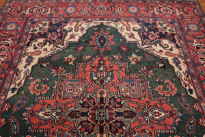 "Oriental Area Rug Hand-Knotted 100% Wool  Traditional Persian Indo Heriz (8'2""x10')"