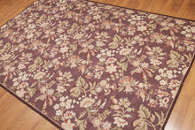 Needlepoint Hand-Woven Wool Traditional Vintage Botanical Country Cottage (6'x9')