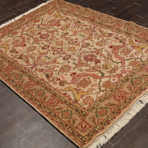 Persian Oriental Area Rug Hand Knotted 100% Wool Traditional  (6'x9')