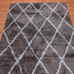 5'4x7'6 Supersoft Oriental Area Rug Grey, Ivory Color