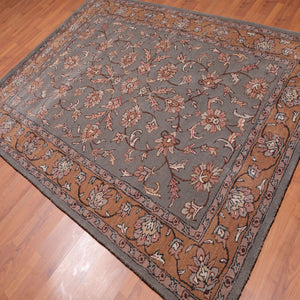 6'x9' Hand Tufted Wool   Oriental Area Rug Dark Grey, Brown Color