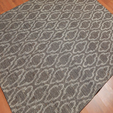 5'x6'6 Machine Made Cotton Modern Oriental Area Rug Gray,, Beige Color