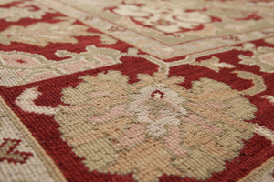 "5'10""x8'10""   Red  Ivory, Greenish Gray, Multi Color Hand Knotted Soumak Rug Wool Traditional Oriental Rug"