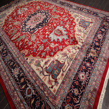 "Persian Oriental Area Rug Hand-Knotted Wool Traditional Palace Size Heriz (11'10""x17'8"")"