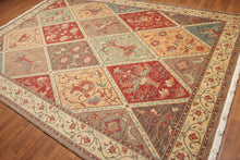 "Full Pile Oriental Hand Knotted   Wool Traditional Diamond Tile (8'4""x11'9"")"