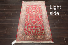 "Persian Oriental Area Rug Hand Knotted 100% Silk Traditional Qum 400 KPSI  (3'x5'1"")"