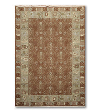 "5'10""x8'10""   Brown  Aqua, Ivory, Multi Color Hand Knotted Soumak Rug Wool Traditional Oriental Rug"