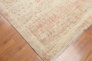Oriental Area Rug Hand-Knotted Wool Contemporary Industrial Distressed Glam (5'6x8')