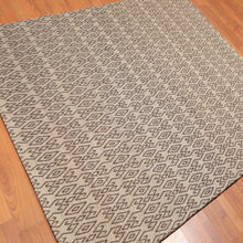 5'1x7'1 Hand Woven Polyproplene  Oriental Area Rug Tan, Chocolate Color