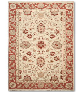 "5'10""x8'10""   Beige  Red, Rust, Brown, Multi Color Hand Knotted Soumak Rug Wool Traditional Oriental Rug"