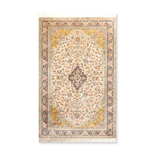 "Persian Oriental Area Rug Hand Knotted 100% Silk Traditional Kashan 400 KPSI  (3'1""x5'3"")"
