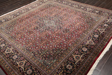 Square Burgundy, Midnight Blue, Aqua Color Hand Knotted Persian 100% Wool Tabriz Samovar Border Herati Motif 250 KPSI Traditional Oriental Rug