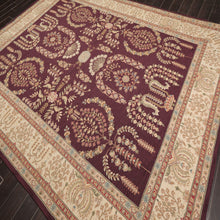 "Oriental Area Rug Hand Hooked 100% Wool Traditional French Aubusson  (8'6""x11'6"")"