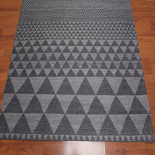 5'x7' Hand Made Wool  Geomteric Graphic Oriental Area Rug Tone on Tone Grey,  Color