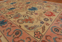 4'x6' Beige Pale Pink,  Blue, Black, Brown, Tan, Multi Color Hand-Knotted Oriental Area Rug 100% Wool  Traditional Persian Oriental Rug
