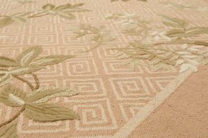 "5'2""x8'3""   Light Brown  Beige, Green,  Multi Color We have been in rug business for decades, serving customers from all over US and Canada. Your satisfaction is our ultimate goal. Oriental Rug Wool Traditional Oriental Rug"