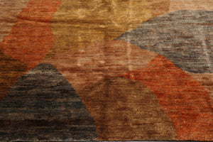 "Oriental Area Rug Hand Knotted 100% Jute Contemporary  Plus Pile Antique Finish (7'11""x9'11"")"