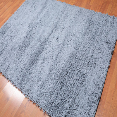 Shag Hand Woven  100% Wool Modern & Contemporary  (5'4