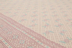 "5'8""x7'10"" Ivory Pale pink, Aqua Color Machine-Made Flatweave Wool Modern Oriental Rug"