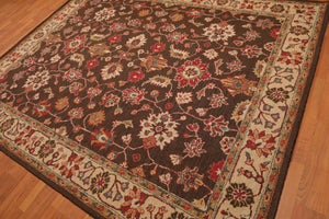 Persian Oriental Area Rug Hand-Tufted 100% Wool  Traditional Persian Shah Abbasi Field (8'x10')