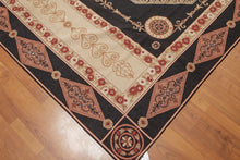 Needlepoint Hand-Woven Wool Traditional Classic French Design Ornamental Medallion (6'x9')